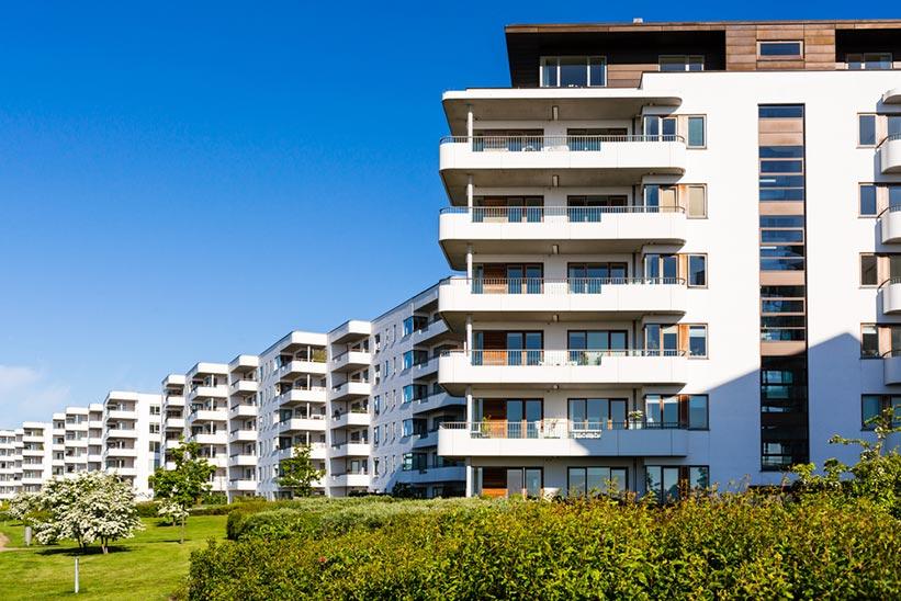 Bloque de apartamentos modernos